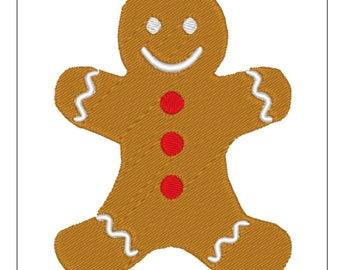 Gingerbread Boy Machine Embroidery Design File