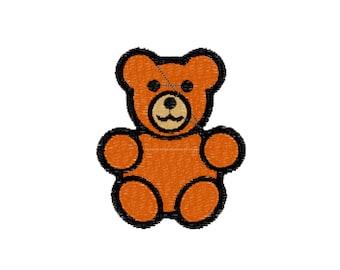 Teddy Bear Machine Embroidery Design File