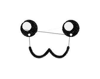 Cute Face Machine Embroidery Design File