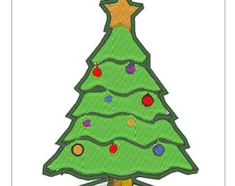 Christmas Tree Machine Embroidery Design File