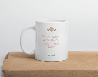 Blessings Irish Proverb Mug