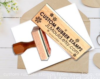 2x5 or 5x2 inches Custom Stamp Sized Wood Mounted Rubber Stamp Your logo, art Business Stamp Wedding Stamp Stamp Branding Stamp Personalized