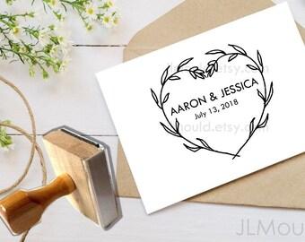 Wedding Return Address Custom Rubber Stamp Personalized Red Rubber Fast Shipping JLMould Design 1500 Wedding Favors Favor