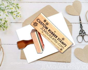 Custom Rubber Stamps, Business Logo Stamps or Wedding Custom Stamp, Custom Logo Stamp. Personalized Stamp, Save the Date or Invitation