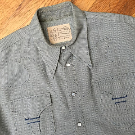 Unique NUDIE'S WESTERN SHIRT, Vintage western wear