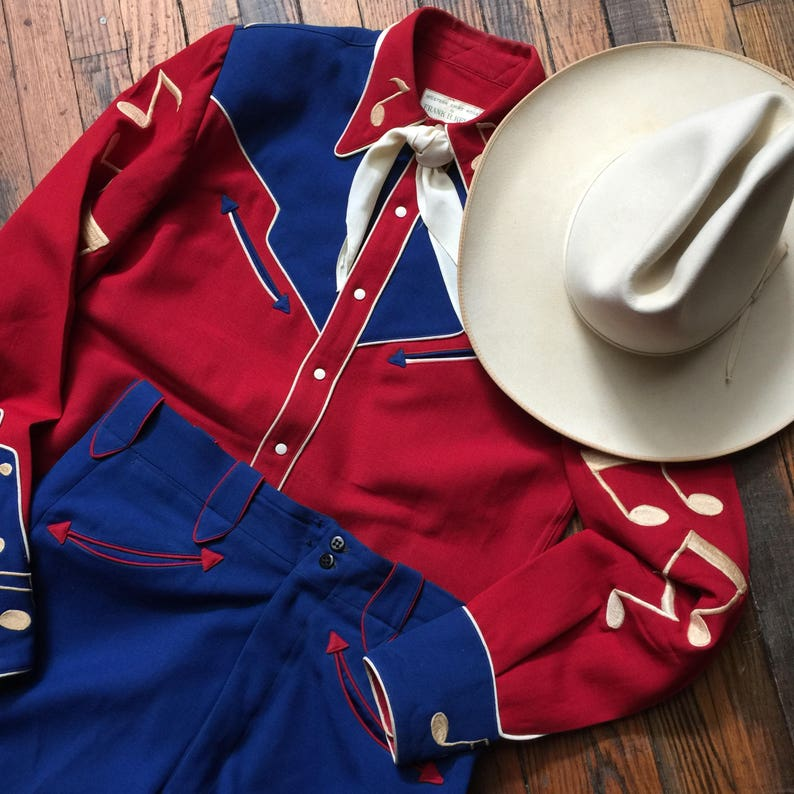 Vintage WESTERN Wear ACCORDION Suit vlv rockabilly suit  24f9738f1875