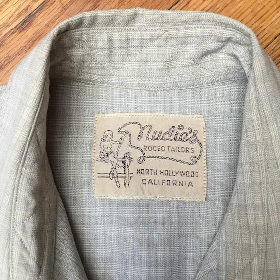 NUDIE WESTERN SHIRT made for Art Miller, Vintage w