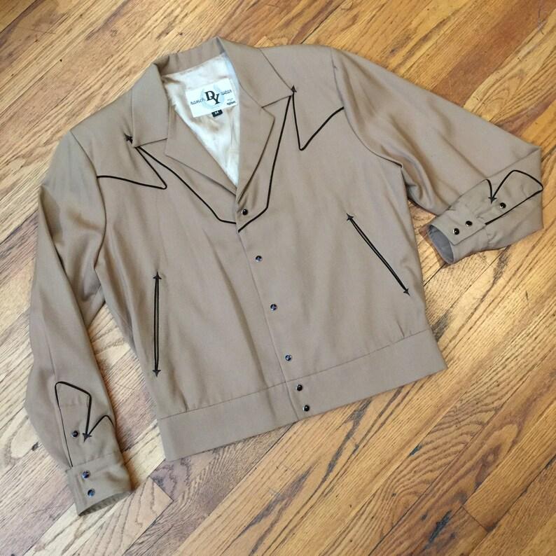 976ac9e6f Vintage DWIGHT YOAKAM bolero Western jacket Ranch Wear Design by MANUEL,  rockabilly, gabardine, cowboy couture retro honky-tonk, vlv