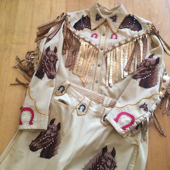 1940s COWGIRL Western suit Vintage western wear Mu