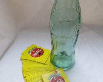 Coke Bottle with Coca Cola Playing Cards - Huge 26 oz. Have a Coke Fans - Bottle And Coca-Cola Playing Cards   #2