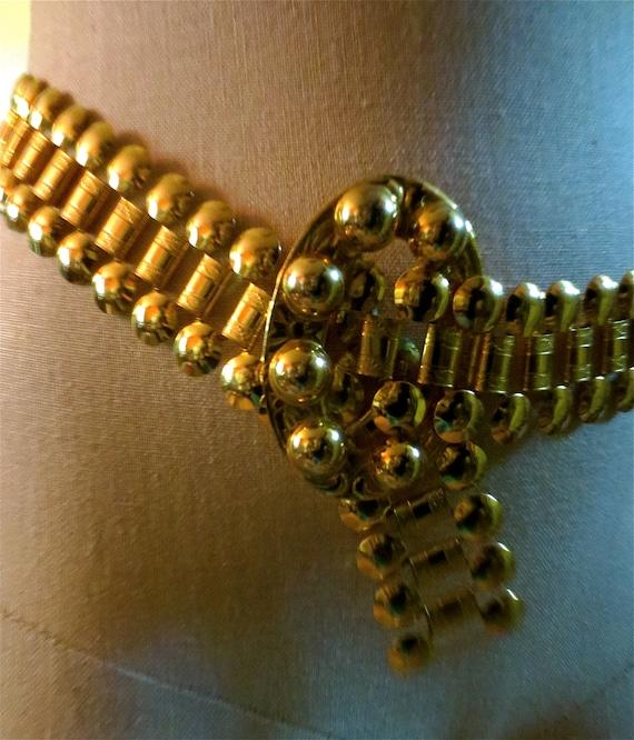 Retro Medieval Chain Belt - Vintage 1960s Hip Belt