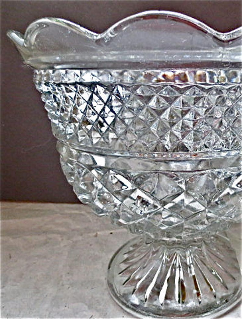 1900-1950 Antiques Reasonable Vaseline Pressed Glass Bowl
