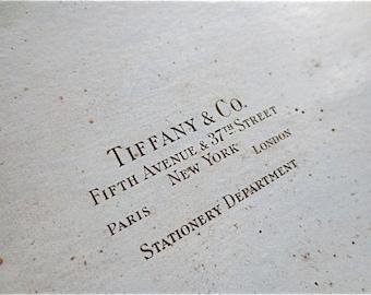Tiffany & Co. Stationery Box  Large Old Box Vintage 1930s