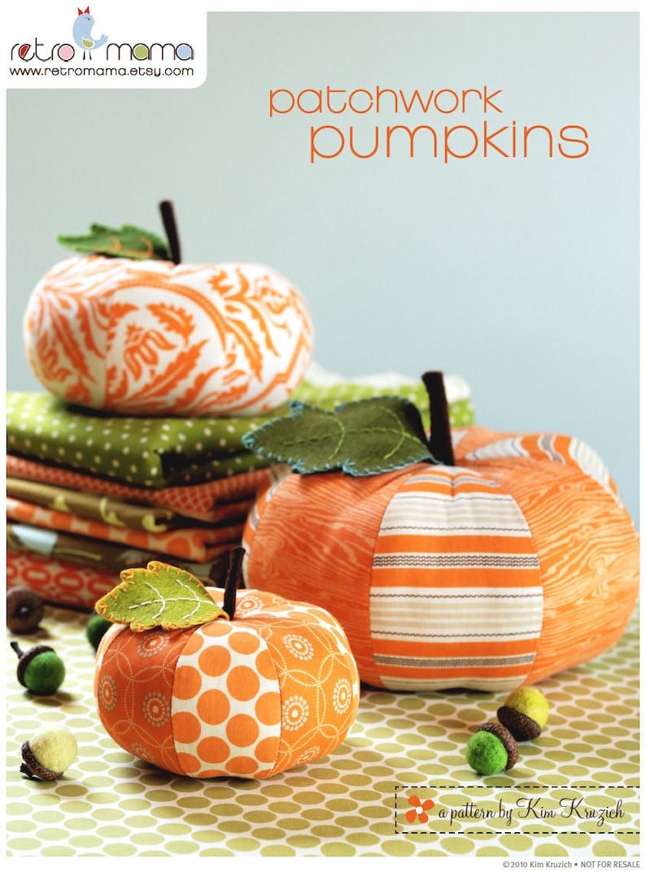 Pumpkin Sewing Pattern  PDF Sewing Pattern Patchwork Pumpkins image 0