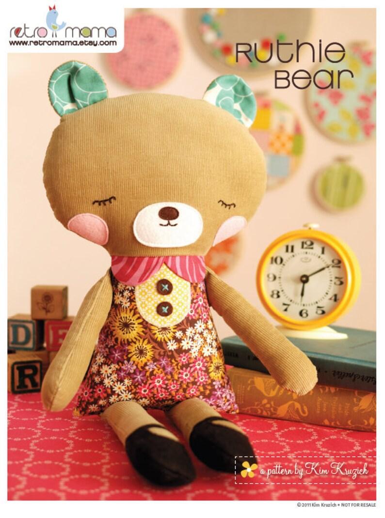 Bear Sewing Pattern  PDF Sewing Pattern Ruthie Bear  Stuffed image 0