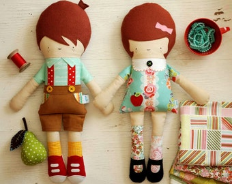 Hans and Greta Doll PDF Sewing Pattern Bundle Instant Download