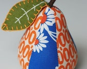 Orange Daisies Pear Pincushion