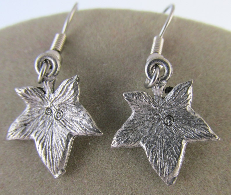 Alpha Phi Bridal Shower Gift Valentine Gift Ivy Leaf Pewter Earrings Graduation Gift AKA Hostess Gift Mothers Day Gift