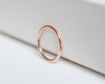 14k rose gold sleeper hoop earrings, minimalist hoop earrings, gold earrings, gift for her, cartilage hoop, gift for her