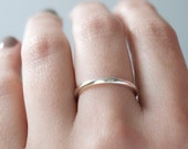 Minimalist sterling silver stacking modern for women or men, gift for women