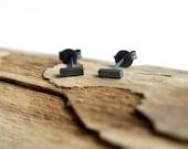 Stud earrings, bar stud earrings, minimalist earrings, geometric earrings, dainty earrings