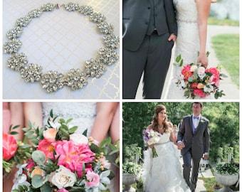 Wedding Sash, Bridal Belt, wedding sash, silver belt, Crystal Bridal sash, vintage style belt, wedding dress sash, Vintage Rose Collection
