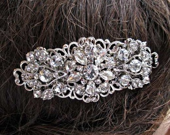 Wedding hair Comb, Bridal hair clip, crystal comb, Wedding Hair accessory, Decorative Comb, Bridal Barrette, Silver hair clip, vintage style