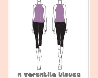 A Versatile Blouse - Sleeveless Cut-in Tank Blouse with Back Zipper