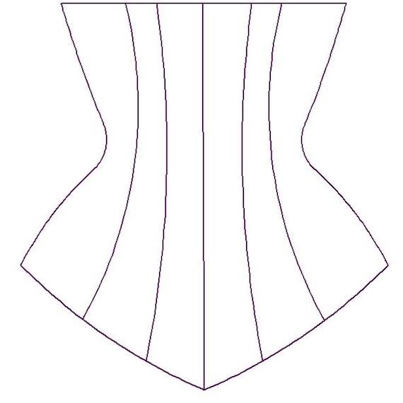 Patrón de costura PDF para Corset senos libres personalizados | Etsy