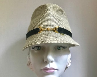 4a56bc9b723 Classic Boater Straw Boater Hat Gatsby Hat Jazz Age Hat