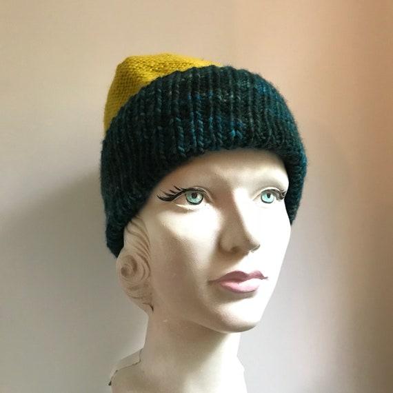 226a900f801 Hand knit beanie hat Merino wool ultra soft slouchy Beanie