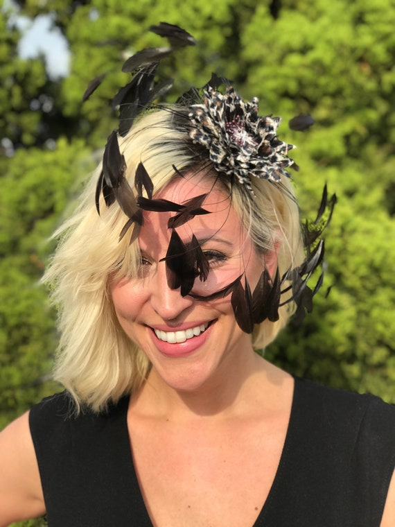 b7803d95170 Feather Fascinator Flapper Hat Ladies Fascinator Jazz Age