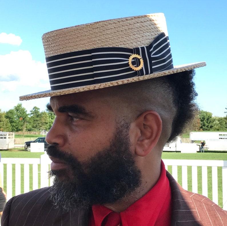 2053ef1833c Straw boater hat. Jazz age men s Boater Gatsby Hat