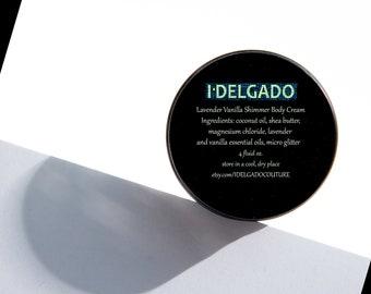 I Delgado Lavender Vanilla Shimmer Body Ceam