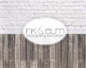 TWO in ONE Backdrop 5ft x 10ft, Vinyl Photography Backdrop, all in one backdrop, two backdrops printed as one, Ink and Elm Backdrops