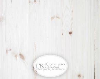 """Small Backdrop 2ft x 2ft, Vinyl Photography white wood backdrop, Social Media Instagram Flatlay Food/Product Backdrop, """"Clean Plate"""""""