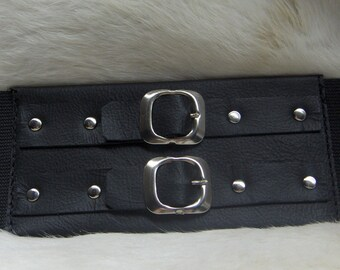 83b7176925 Black Leather Waist Cincher Handmade For You