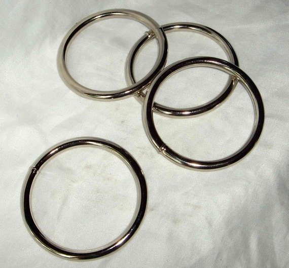 1 Inch Nickel Plated O Rings Great for Horse Halters Sports Gear /& More