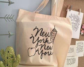 New York New York Canvas Tote Bag
