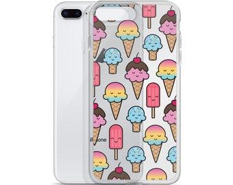 Kawaii Ice Cream iPhone Case - Transparent Background