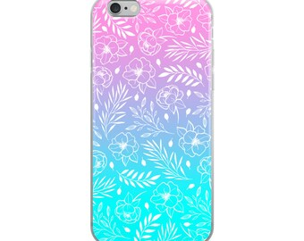 Ombre Floral iPhone Case