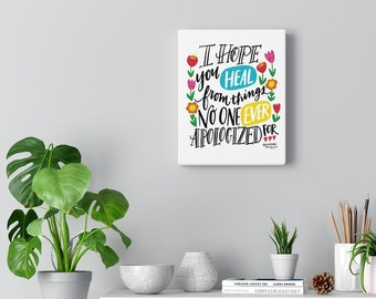 Hand Lettering Hope Heal Canvas Gallery Wraps