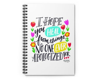 Hand Lettering Spiral Notebook - Ruled Line
