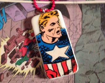 Captain America comicbook hero