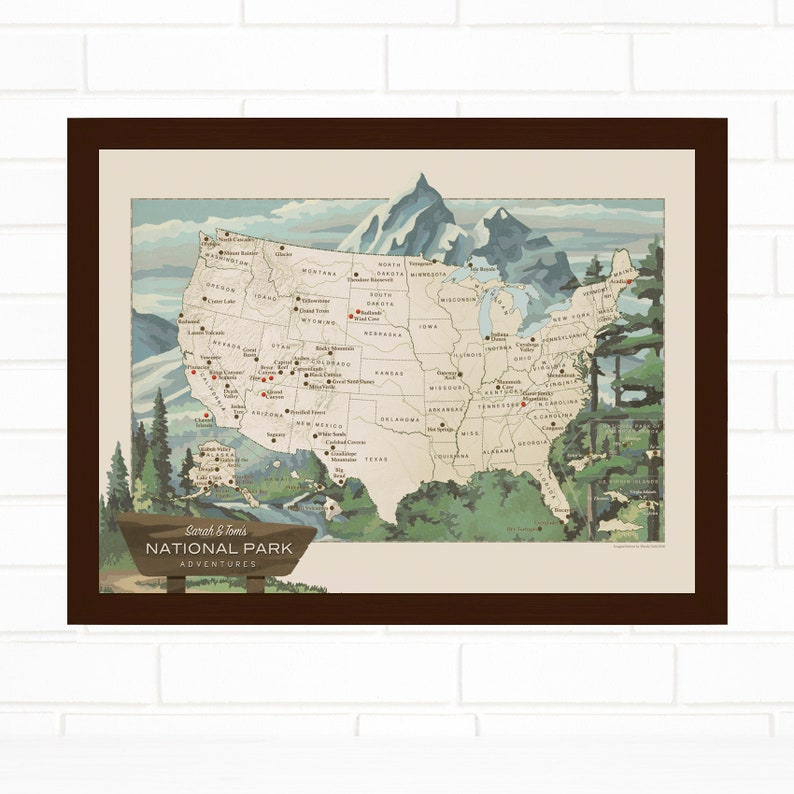 National Parks Pin Map