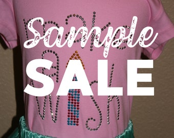 SAMPLE SALE - More birthday design rhinestud tees - FREE first class shipping