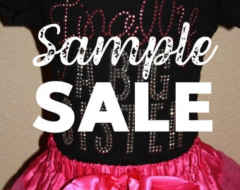 SAMPLE SALE - More Sister design rhinestud tees - FREE first class shipping