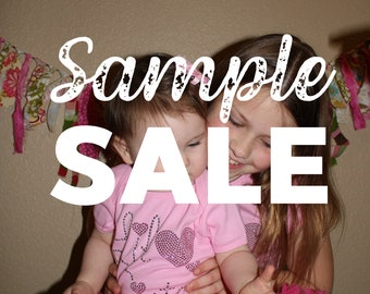 SAMPLE SALE - Sister design rhinestud tees - FREE first class shipping