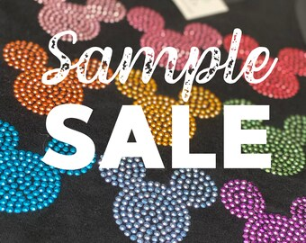 SAMPLE SALE - Disney multi colored rhinestud tee - FREE first class shipping