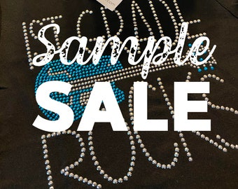 SAMPLE SALE - Back to School design rhinestud tees - FREE first class shipping